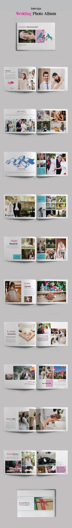 Watercolor Floral Photobook #photo album #photo template #photobook ...