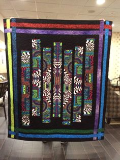 Made from a panel by Frond Studio using the Fracture pattern as a gift for Sara in Boston