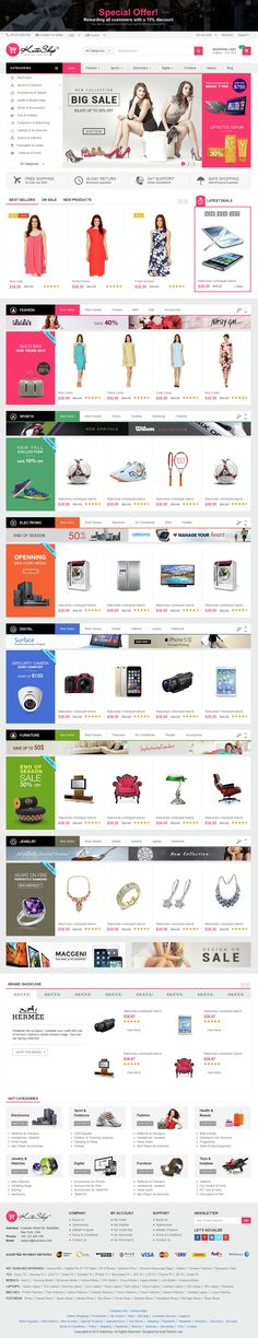 KuteShop is a modern, clean and professional multi-purpose #PrestaShop theme, It is fully responsive, it looks stunning on all types of screens and devices.  It is super for fashion shop, digital #store, games shop, food shop, devices shop, household appliances #shop or any other categories. #eCommerce