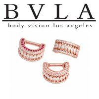 Body Vision BVLA Lilly 14kt Gold Septum Ring White CZ 12g