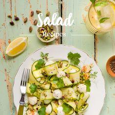 Zucchini, Bocconcini and Preserved Lemon Salad Recipe from Saputo Lemon Salad Recipe, Salad Recipes, Healthy Recipes, Healthy Meals, Saputo Cheese, Preserved Lemons, Fresh Coriander, Avocado Egg, Fresh Herbs