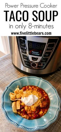 Pressure cooker taco soup in just 8 minutes. quick easy yummy family dinner #pressurecooker #instantpot #dinner #meals