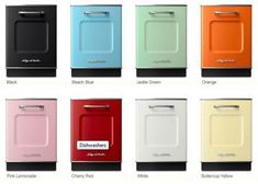 big chill colored dishwasher and kitchen appliances #CoolRetroHomeDecorBigChill
