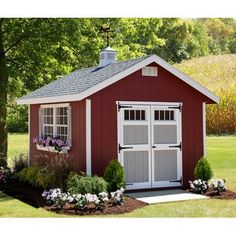 Shed DIY - Landscape ideas for shed or greenhouse? Now You Can Build ANY Shed In A Weekend Even If You've Zero Woodworking Experience! Garden Shed Kits, Diy Shed Kits, Storage Shed Kits, Wood Storage Sheds, Diy Storage, Firewood Storage, Roof Storage, Barn Storage, Wood Shed Plans