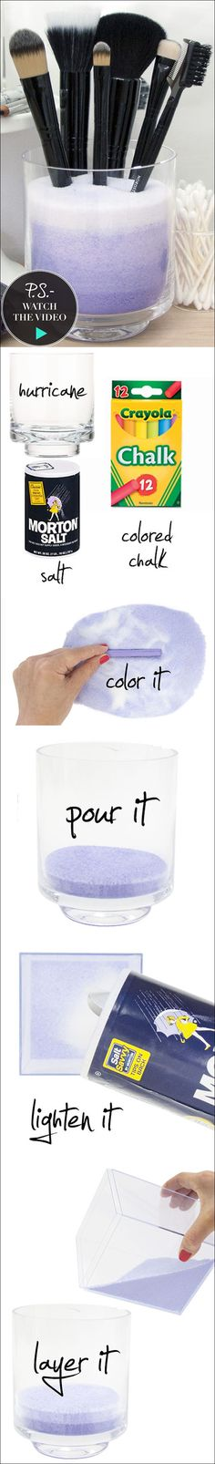 Maura- this could be a fun rainy day project for kids.. Doesn't had to be for makeup brushes