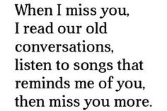 when I miss you..