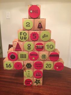 Advent Calendar with Stampin Up 25 Days by April Waltrip at Stampin Fool