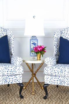 Blue And White Decor south shore decorating blog: blue & white rooms and very