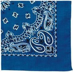 """Royal Blue Trainmen Cotton Paisley Sport 22"""" x 22"""" Bandana Biker Headwrap   4052   $1.99"""