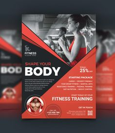 Top Rated Fitness Center Flyer Design Template 001523 Letterhead Template, Brochure Template, Flyer Design Templates, Flyer Template, Fitness Flyer, Bathroom Design Layout, Insert Image, Add Image, Poster Art