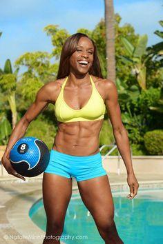 Fitness Model Kanika Utley. Love her energy!  Newport Beach, CA. FMI Fall Conference.