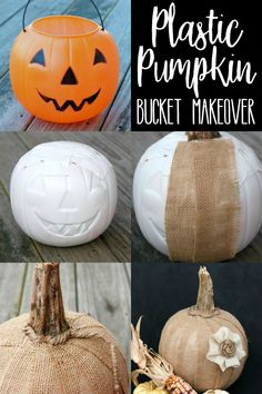 Plastic Pumpkin Bucket Makeover – 10 Rust-Colored DIY Dollar Tree Fall Decor Ide fall diy crafts to sell - Diy Fall Crafts Thanksgiving Decorations Outdoor, Diy Snowman Decorations, Thanksgiving Diy, Dyi Fall Decor, Fall Tree Decorations, Fall Yard Decor, Country Fall Decor, Decor Diy, Thanksgiving Activities