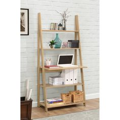 This stylish and contemporary bookcase will not only look the part, but also saves space to offer a storage solution in smaller areas of the house.
