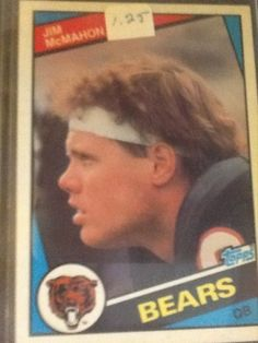 Jim Mcmahon - Topps 1984 Chicago Bears Football Card 227 #ChicagoBears
