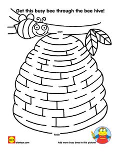 Help this busy bee get through the maze in this free printable | alexbrands.com