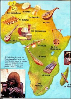 Afrique en musique ... Prophets Of The Bible, Old Musical Instruments, Afrique Art, Cultura General, Africa Map, Online Lessons, Music Classroom, Music Theory, Teaching Music