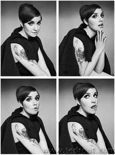 Lena Dunham - Amazing, amazing writer, director, and actress. So brave and unflatteringly, authentically messy.
