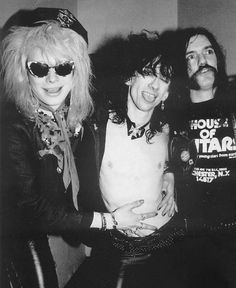 Michael Monroe , Stiv Bators & Lemmy Kilmister