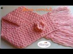 Cachecol Borboletas em Crochê/ Simone Cavagnoli/ Simone artes em croche. - YouTube