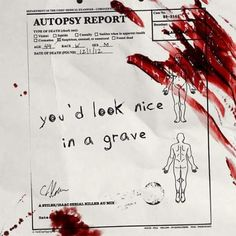 can i have the autopsy report? Wait, why is here a picture of a men who lies in a grave? Fallout New Vegas, Storyboard, All Cheerleaders Die, Akatsuki, Moira Burton, Xavier Samuel, Lila Baby, You Are My Moon, Maleficarum