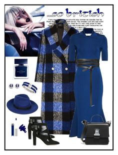 """""""Paper London Blue Checked Coat Look"""" by romaboots-1 ❤ liked on Polyvore featuring Whiteley, Paper London, Victoria Beckham, Isabel Marant, Jimmy Choo, MM6 Maison Margiela, Maje, Vince Camuto, W. Britt and Anastasia Beverly Hills"""