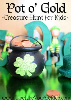 Task based/chore activity to do with kids for #StPatricksDay
