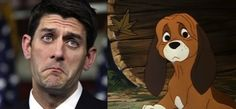 Uncanny resemblance: Disney Politician Doppelgangers From Disney Movies, Disney Characters, Paul Ryan, Wtf Funny, Crazy Funny, Disney Facts, Cartoon Dog, Crazy People, Disney Style
