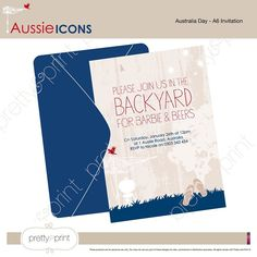 Australia Day Invitation -DIY Printable PDF
