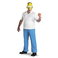 The Simpsons Homer Simpson Deluxe Adult Costume from Spirit Halloween on Catalog Spree, my personal digital mall. Simpsons Costumes, Simpsons Halloween, Halloween Men, Disney Halloween Costumes, Movie Costumes, Halloween Costumes For Kids, Adult Costumes, Spirit Halloween, Holiday Costumes