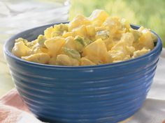 Creamy Potato Salad - this is my favorite traditional potato salad recipe. I omit the onions and celery and add a tablespoon of sweet pickle relish to the dressing.