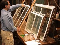 """Hey DIY'ers, take note of some window repair tips from John Leeke (preservationist & Old House Journal contributor)- """"I've repaired hundreds of sashes and assessed the condition of more than a thousand, and never seen a sash that could not be repaired."""""""