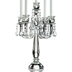 Lighting by Design Candle Holders, Old Vienna 5 Arm Candelabra ($200) ❤ liked on Polyvore featuring home, home decor, candles & candleholders, no color, crystal beaded candle holders, lighting by design and lighting by design candle holders