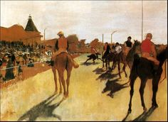 Horses Before the Stands by Edgar Degas