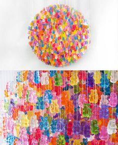 Gummy bear chandelier - Kevin Champeny