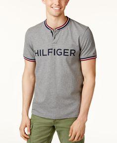 de1173e6d65 Tommy Hilfiger Men s Baseball Henley   Reviews - Casual Button-Down Shirts  - Men - Macy s