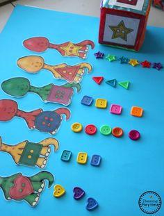 Dinosaur Shapes Sorting Activity for Preschool Dinosaur Puppet, Dinosaur Theme Preschool, Dinosaur Activities, Dinosaur Crafts, Dinosaur Toys, Preschool Learning Activities, Preschool Themes, Preschool Crafts, Preschool Boards