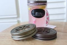 10 Daisy Cut Mason Jar Lids Drink Tumblers by CherishedBlessings, $8.98