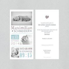 Geburtskarte - snugly (boy) von STILARTEN - Kunst & Design auf DaWanda.com
