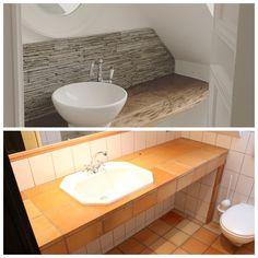 BEFORE/ AFTER: Bathroom remodel Vanity, Bathroom, House, Dressing Tables, Washroom, Powder Room, Home, Vanity Set, Full Bath