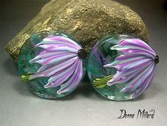 HANDMADE LAMPWORK EARRING Beads by Donna Millard SRA