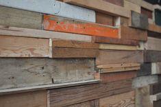 Tratamiento de paredes con retazos de madera
