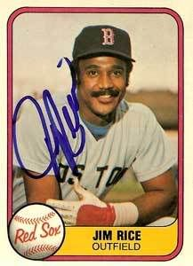 Baseball Hall of Famer and former Red Sox left fielder, Jim Ed Rice.  A joy to watch in every aspect of the word.