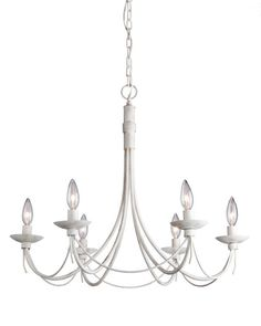 View the Artcraft Lighting AC1486AW Wrought Iron Single-Tier Chandelier with 6 Lights - 25 Inches Wide at LightingDirect.com.