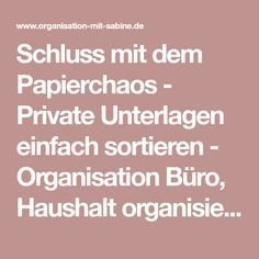 Schluss Mit Dem Papierchaos Private Unterlagen Sortieren