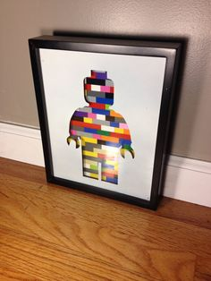 Lego 8 x 10 picture frame: Shadow box with a metal insert of a
