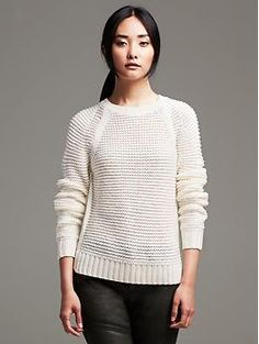Horizontal Stitch Pullover | Banana Republic