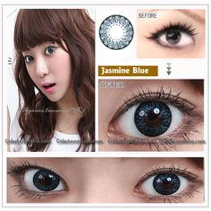 EOS Jasmine Blue Contact Lens [217B] - $29.99 : Colored Contacts, Halloween Contacts,Color Contact Lenses and Crazy Contact Lenses