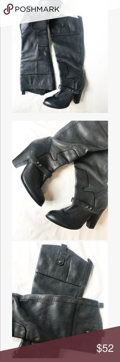 Sam Edelman black genuine leather high heel boots Beautiful black boots . Back of boots show some sign of wear . Otherwise great condition Sam Edelman Shoes Heeled Boots