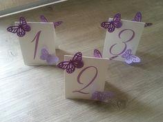 WE-PEVAR • Coordinato matrimonio tema farfalle e cuore : menù...