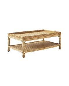 Inspired by a mid-century antique, this chic table pays homage to the textural beauty of handwoven rattan – a material we always turn to for its natural warmth and easy elegance. Design perk: A lower shelf gives you plenty of curating potential. Coffee Table With Shelf, Rattan Coffee Table, Unique Coffee Table, Coffee Tables, Beach House Decor, Diy Home Decor, South Seas, Farmhouse Table, Modern Farmhouse